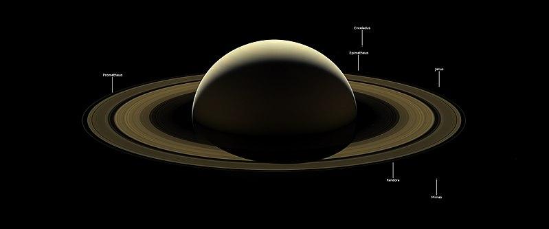 Saturn wikipedia farewell to saturn and moons enceladus epimetheus janus mimas pandora and prometheus by cassini 21 november 2017 thecheapjerseys Choice Image