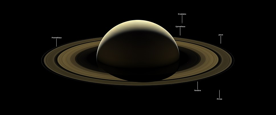 PIA17218 – A Farewell to Saturn, Annotated Version