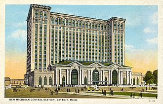Michigan Central Station - Postcard of the Michigan Central Station (c.1914)