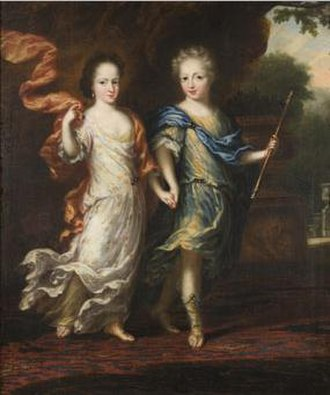 Hedvig Sophia of Sweden - Painting of Princess Hedvig Sofia of Sweden and her brother, the future Charles XII of Sweden.