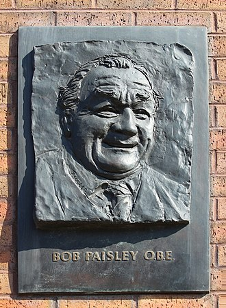 Bob Paisley - Plaque to Paisley at the Anfield gateway named in his honour