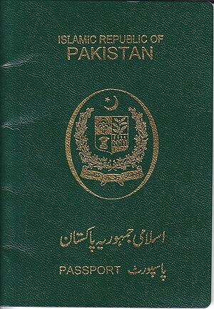 Pakistani Passport Front View