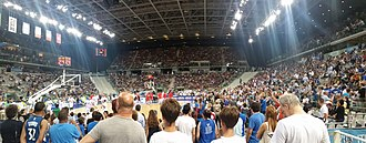 Pala Alpitour - Inside view of the arena during the 2016 FIBA World Olympic Qualifying Tournament
