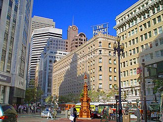Palace Hotel, San Francisco - The Palace Hotel on Market Street in San Francisco