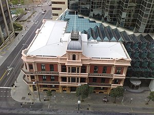 Palace Hotel, Perth - Palace Hotel from above showing the adjoining BankWest Tower.
