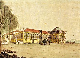 Paço de São Cristóvão - View of the Palace in 1817 before the neoclassical intervention.