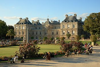 English: The palace of Luxembourg, in the Luxe...
