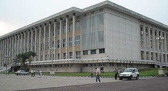 Politics of the Democratic Republic of the Congo - Palais du Peuple, seat of the parliament in Kinshasa