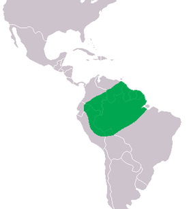 Smooth-Fronted Caiman distribution (green)
