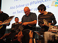 PaleyFest 2011 - The Walking Dead panel - director Frank Darabont and producer Gale Ann Hurd sign for fans.jpg