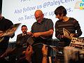 PaleyFest 2011 - The Walking Dead panel - director Frank Darabont and producer Gale Ann Hurd sign for fans.jpg