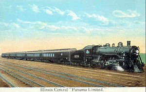 Panama Limited - Postcard depiction of the train, circa 1917.