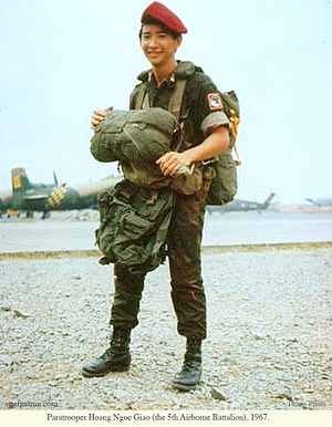 Republic of Vietnam Airborne Division - Paratrooper Hoàng Ngọc Giao (the 5th Airborne Battalion), 1967.