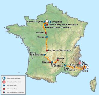 2012 Paris–Nice - The route of the 2012 Paris–Nice
