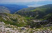 Поглед од Националниот парк Галичица кон Преспанското Езеро