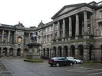 Parliament House in Edinburgh, the former home of the Estates of Scotland.