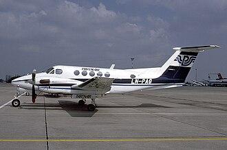 Partnair - Partnair Beechcraft Super King Air at EuroAirport Basel–Mulhouse–Freiburg in 1986