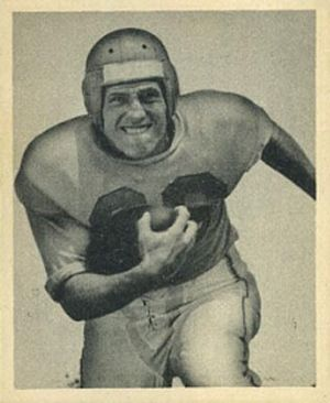 Pat West - West on a 1948 Bowman football card
