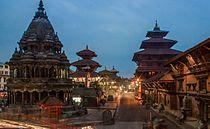 Patan Durbar Square at Night.jpg