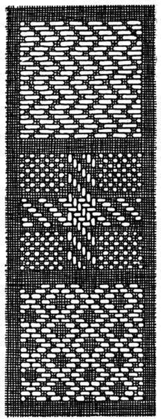 Straight stitch - Pattern darning.
