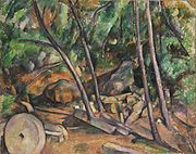 Paul Cézanne - Millstone in the Park of the Château Noir.jpg