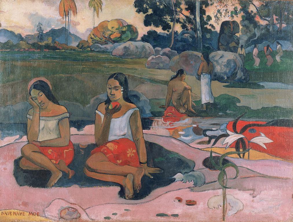 Nave nave moe ou Joie de se reposer de Paul Gauguin au musée de l'Ermitage de Saint Petersbourg.