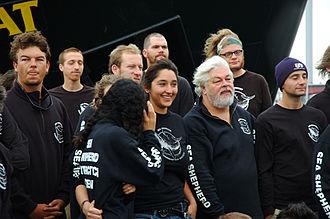 Paul Watson - Paul Watson and the Farley Mowat crew in 2005.