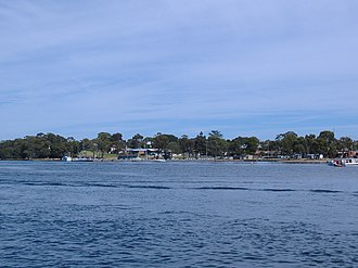 Paynesville, Victoria - Paynesville from the water