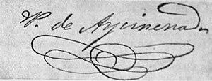 Pedro de Aycinena y Piñol - Image: Pedroaycinenafirma