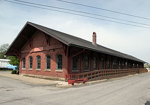 Pennsylvania Railroad Freight Station (Washington, Pennsylvania) - Pennsylvania Railroad Freight Station in 2010