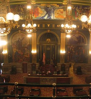 Pennsylvania General Assembly - Image: Pennsylvania State Capitol Senate Chamber
