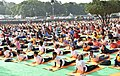 People participating in the rehearsal ahead of the Prime Minister's event on the International Day of Yoga 2018, at the Forest Research Institute, in Dehradun, Uttarakhand on June 19, 2018 (3).JPG