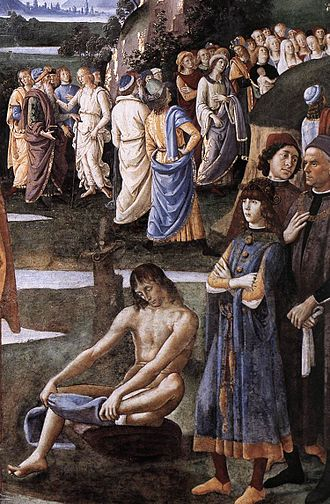 Baptism of Christ (Perugino, Rome) - Detail.
