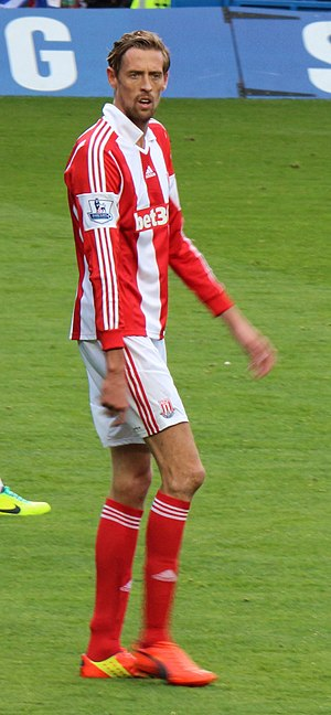Peter Crouch - Crouch playing for Stoke City in 2014