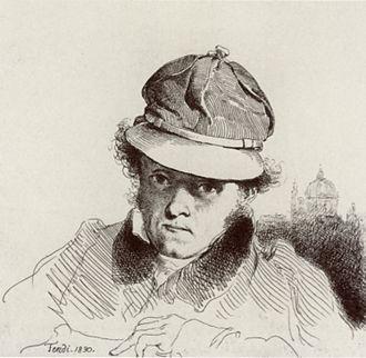 Peter Fendi - Self-portrait (1830)