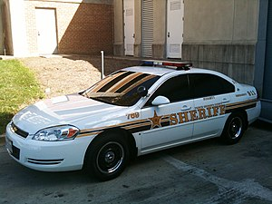 Prince George's County, Maryland - K9 cruiser of the Prince George's County Sheriff's Office in October 2009.