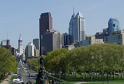 Skyline of Philadelphia, Pennsylvania