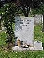 Philip Larkin -headstone at Cottingham municipal cemetery, near Hull, England-24May2008.jpg