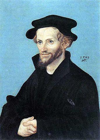 Лукас Кранах. Портрет Филиппа Меланхтона. 1543