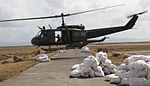 Philippine Air Force UH-1 helicopter participating in Yolanda relief efforts, November 2013.jpg