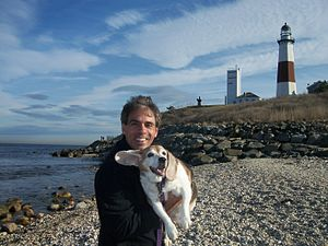 Phlash Phelps - Phlash with his late dog Clyde in Montauk, New York