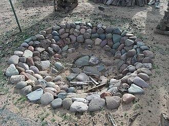 Deer Valley Petroglyph Preserve - Image: Phoenix Deer Valley Rock Art Center Hohokam Cooking pit 1