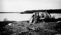 Photograph of Birch Bark Igloo in Lac LaCroix Indian Village - NARA - 2128320.tif