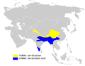 Phylloscopus affinis distribution map.png