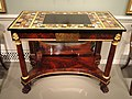 Pier Table, Boston, 1815-1825, mahogany with mahogany veneer, marble, semiprecious stones, ormolu, brass - National Gallery of Art, Washington - DSC09746.JPG