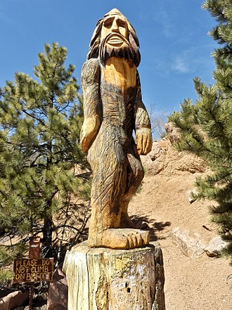 "Bigfoot - ""Bigfoot"" carving at the Crystal Creek Reservoir"
