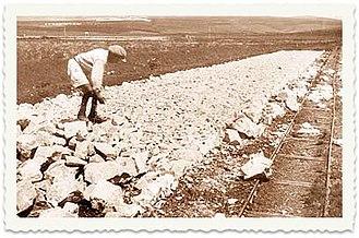 Third Aliyah - Road construction, Ein Harod