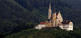 Pilgrimage Church Maria Straßengel building in Gratwein-Straßengel, Austria