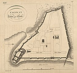 Plan of Conway town and Castle