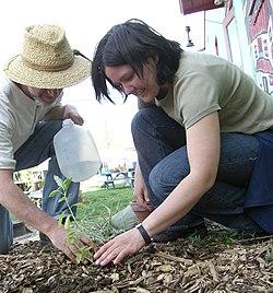 Planting at Our Community Place Harrisonburg VA April 2008.jpg